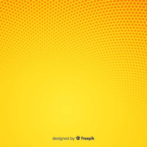 Fundo de meio-tom abstrato amarelo Vetor grátis