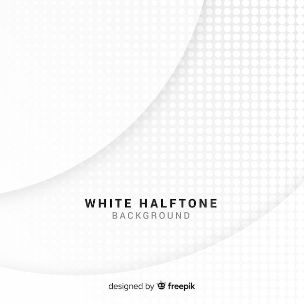 Fundo de meio-tom branco Vetor grátis