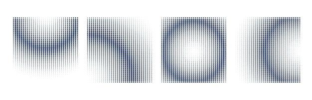 Fundo de meio-tom definido com formas quadradas Vetor grátis