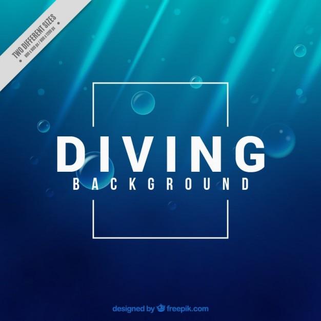 Fundo de mergulho Vetor grátis