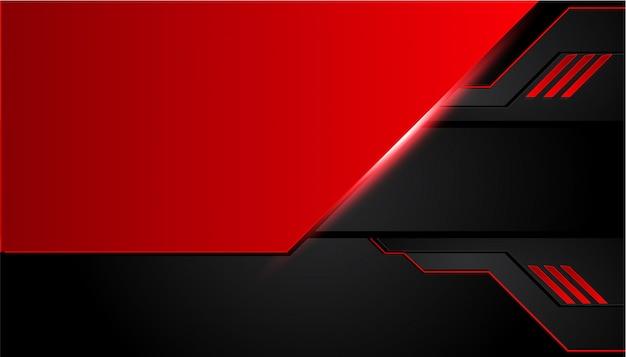 Fundo de metal preto e vermelho Vetor Premium