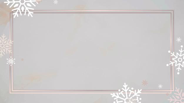 Fundo de moldura de retângulo dourado Vetor grátis