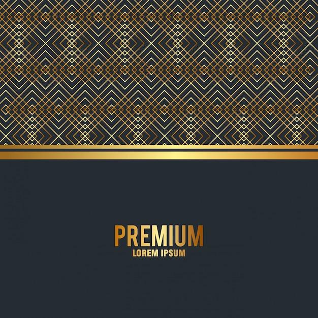 Fundo de moldura dourada de qualidade premium Vetor grátis