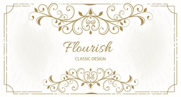 Fundo de moldura floral elegante Vetor grátis