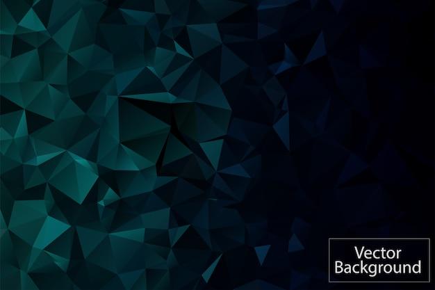 Fundo de mosaico poligonal verde escuro Vetor Premium