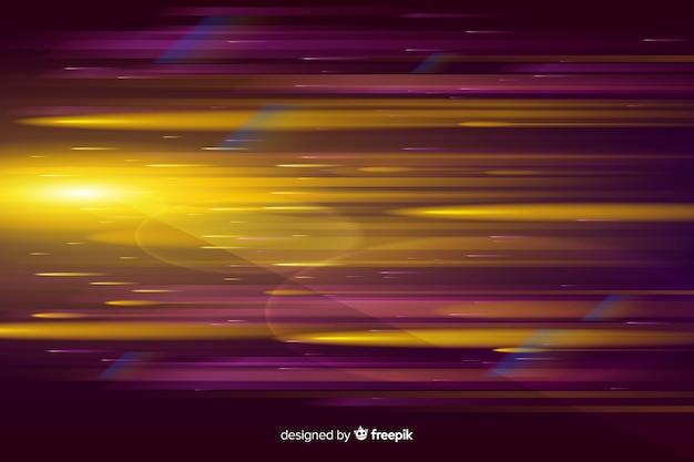 Fundo de movimento de luz brilhante realista Vetor grátis