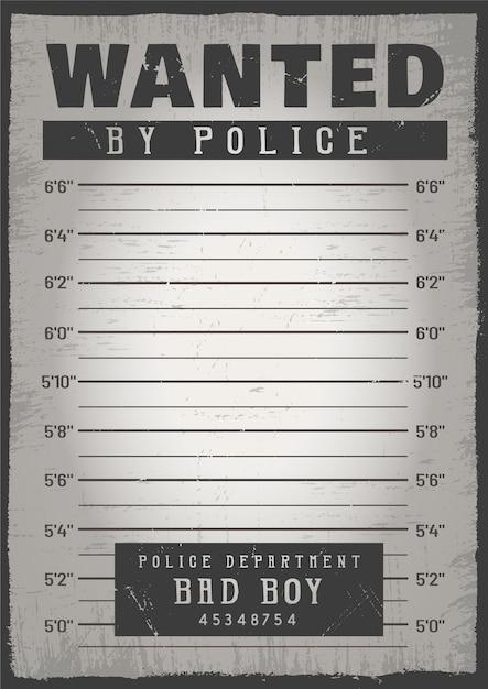Fundo de mugshot de polícia Vetor grátis