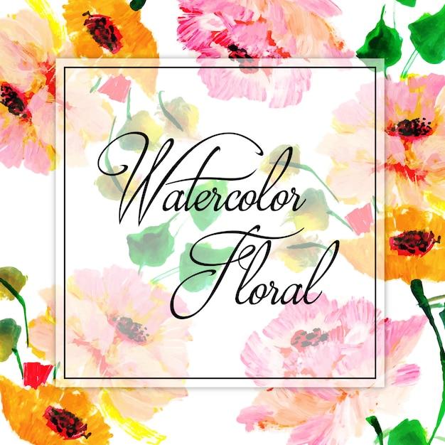 Fundo de múltiplos floral aquarela primavera Vetor grátis