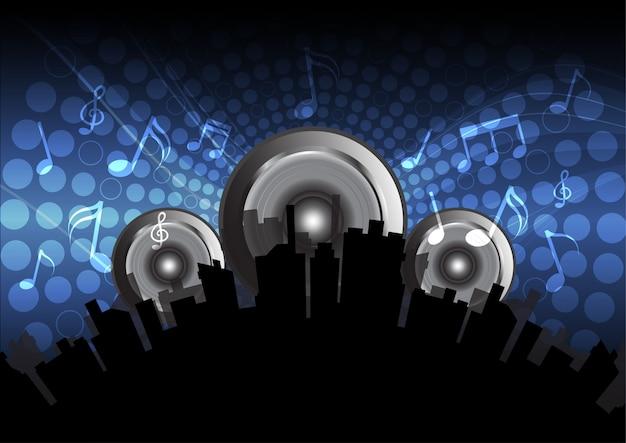 Fundo de música eletrônica Vetor grátis