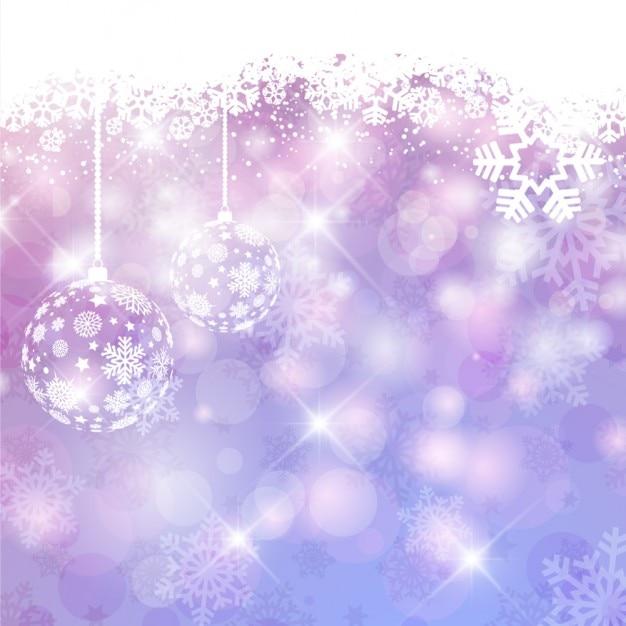 Fundo De Natal Brilhante Roxo Com Bolas Baixar Vetores