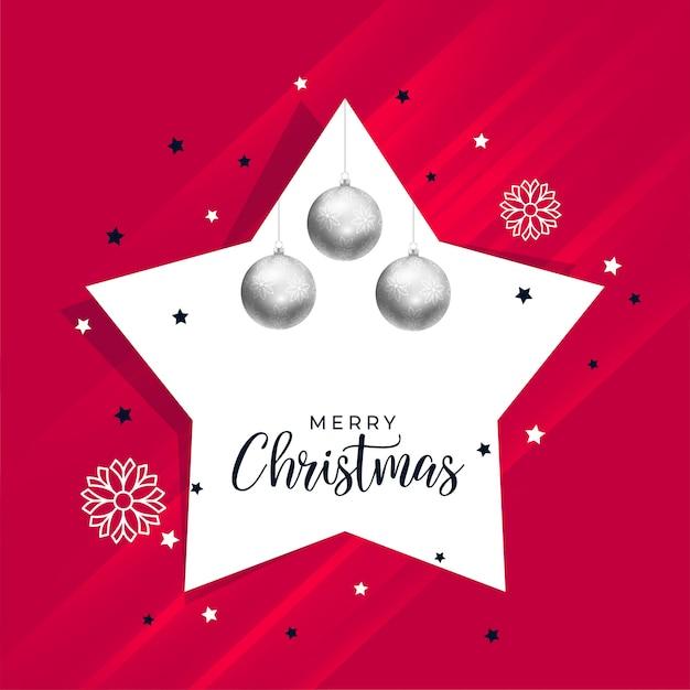 Fundo de Natal com decoração de estrela e bola Vetor grátis a9db38d93b3a8