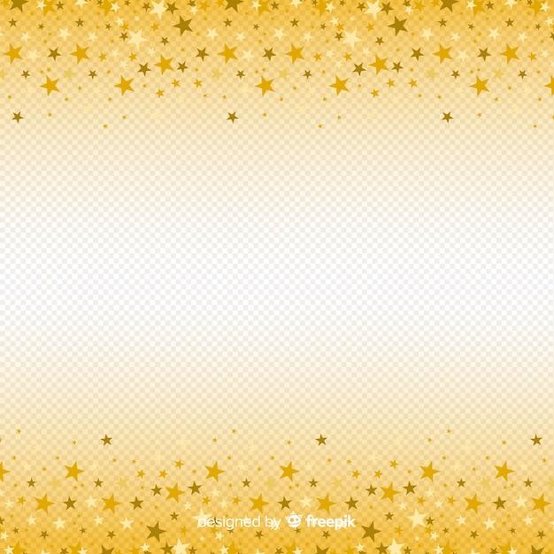 Fundo de natal com estrelas douradas Vetor grátis