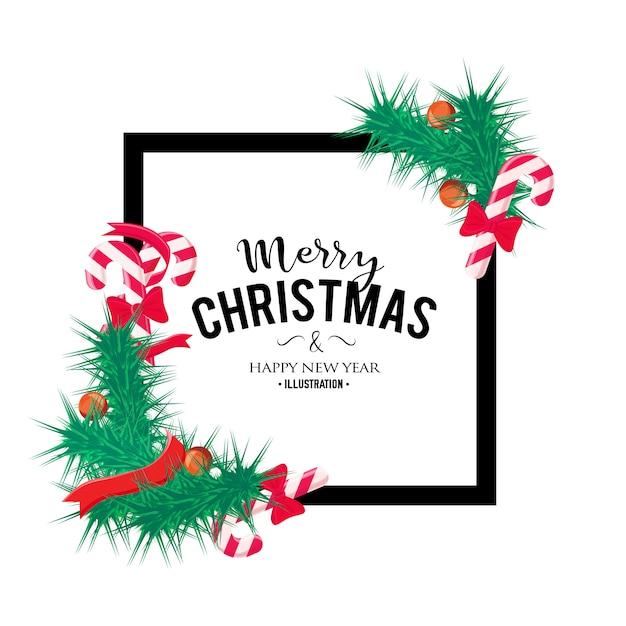 Fundo de natal feliz. elemento de decoração perfeita para cartões, convites e outros Vetor grátis