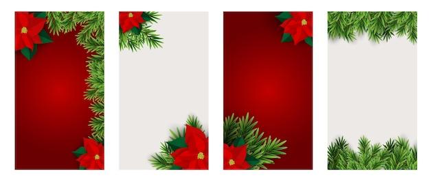 Fundo de natal hilidat para postagens de histórias do instagram Vetor Premium