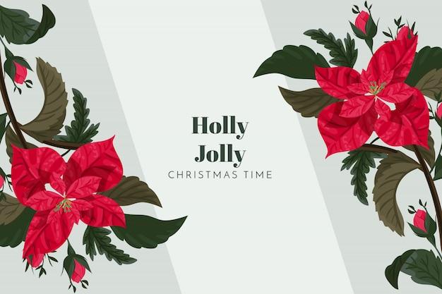 Fundo de natal holly jolly Vetor grátis