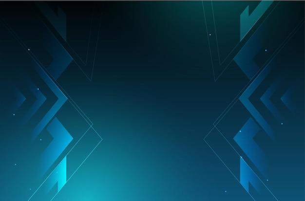 Fundo de negócios moderno com design de tecnologia digital Vetor grátis