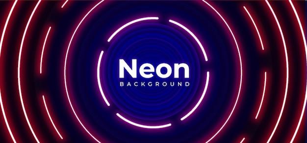 Fundo de néon elegante Vetor Premium