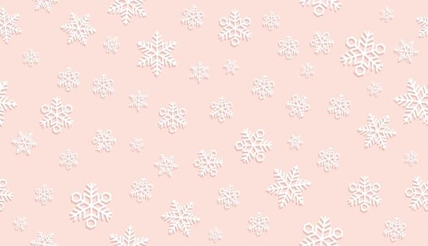 Fundo de neve festiva sem emenda. Vetor Premium