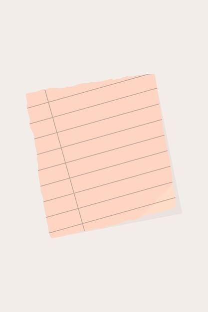 Fundo de nota de papel rasgado Vetor grátis