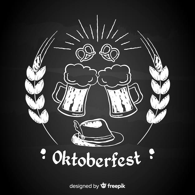Fundo de oktoberfest de quadro-negro Vetor grátis