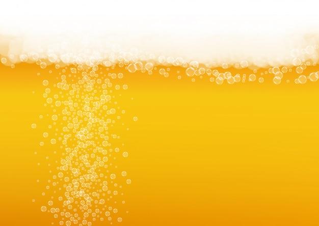 Fundo de oktoberfest. espuma de cerveja. respingo de cerveja artesanal. Vetor Premium
