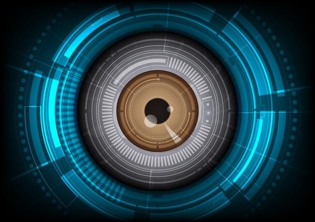 Fundo de olho tecnológico Vetor Premium