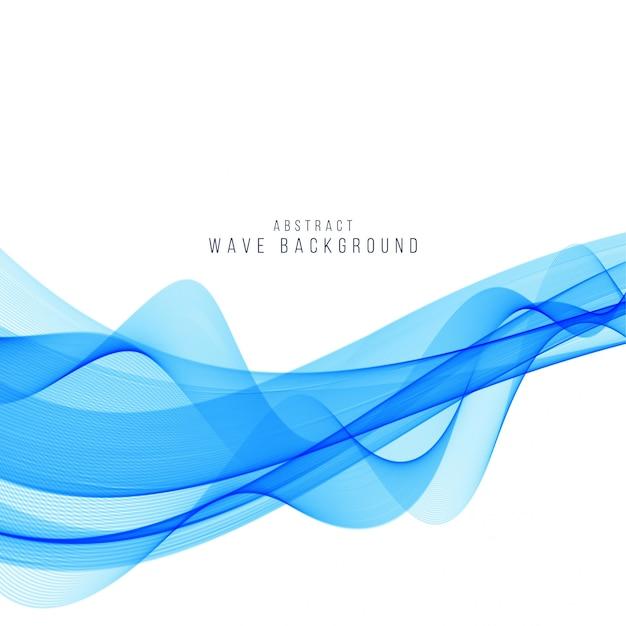 Fundo de onda azul elegante moderno Vetor grátis