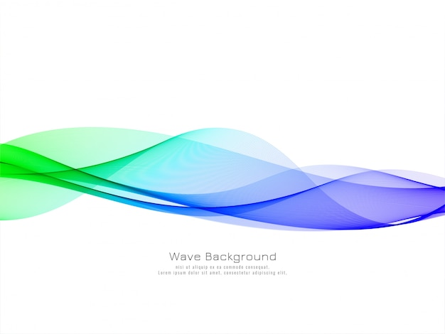 Fundo de onda colorido elegante e elegante Vetor grátis