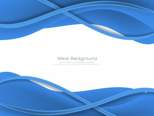Fundo de onda de cor azul abstrato Vetor grátis