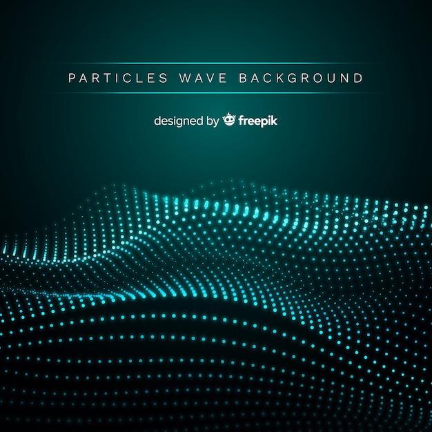 Fundo de onda sonora de partículas Vetor grátis