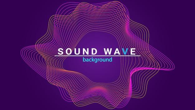 Fundo de onda sonora Vetor Premium
