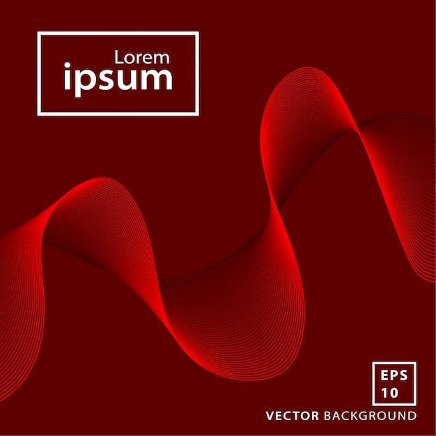 Fundo de onda vermelha Vetor Premium
