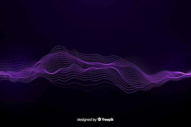 Fundo de ondas de partículas abstratas do equalizador Vetor grátis