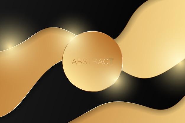Fundo de ouro abstrato de luxo. Vetor Premium