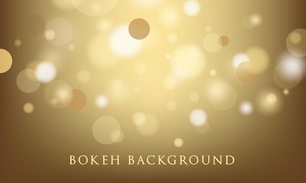 Fundo de ouro bokeh, abstrato, textura leve Vetor Premium