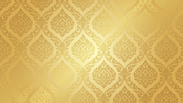 Fundo de ouro supremo padrão tailandês Vetor Premium