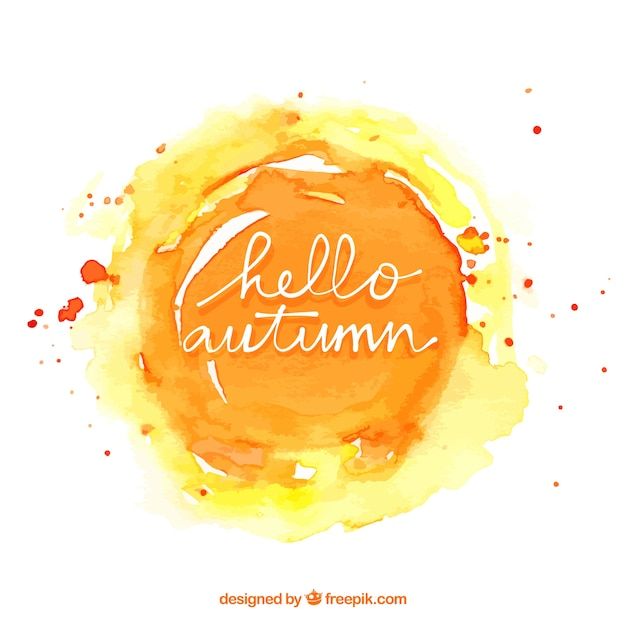 Fundo de Outono de aquarela Vetor grátis