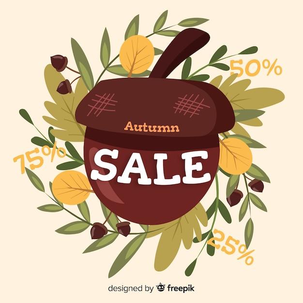 Fundo de outono vendas bonito Vetor grátis