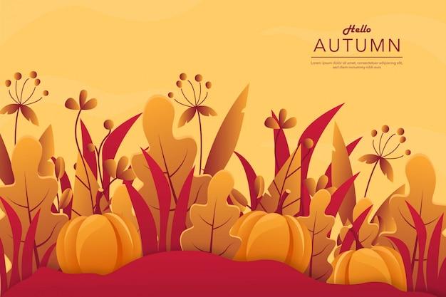 Fundo de outono Vetor Premium