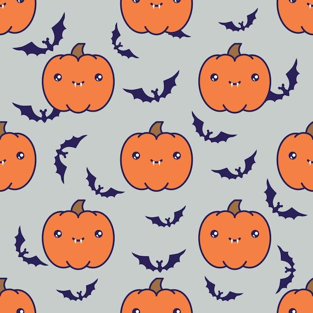 Fundo de padrão de halloween sem emenda Vetor Premium