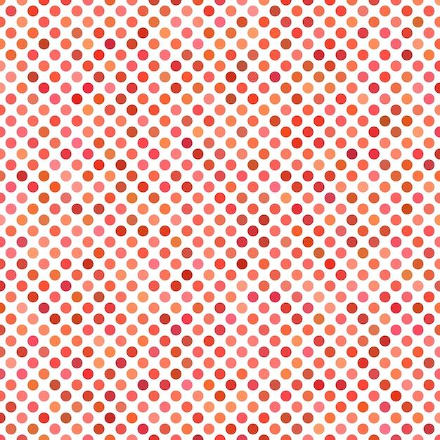 Fundo de padrão de ponto colorido - gráfico vetorial geométrico de círculos vermelhos Vetor grátis