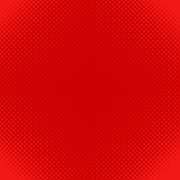 Fundo de padrão de pontos de meio-tom vermelho - design vetorial de círculos em tamanhos variados Vetor grátis