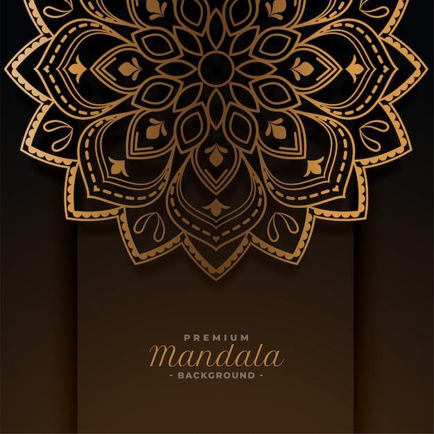 Fundo de padrão decorativo de mandala dourada luxuosa Vetor grátis
