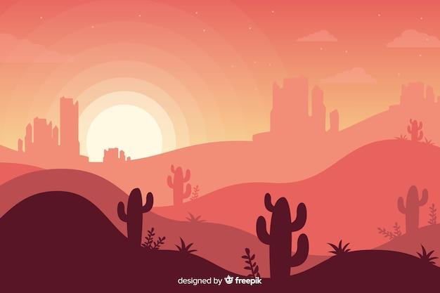 Fundo de paisagem do deserto criativo Vetor grátis