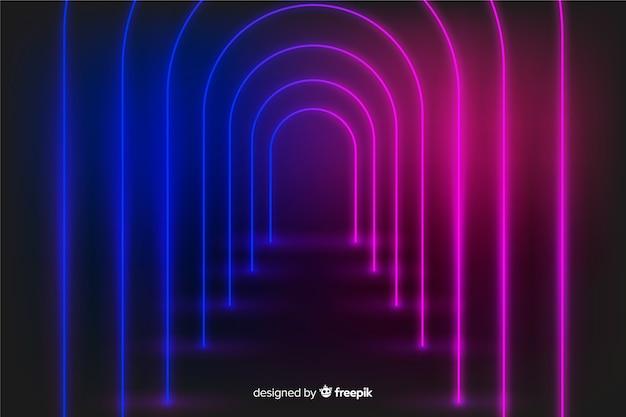 Fundo de palco de luzes de brilho de néon Vetor grátis