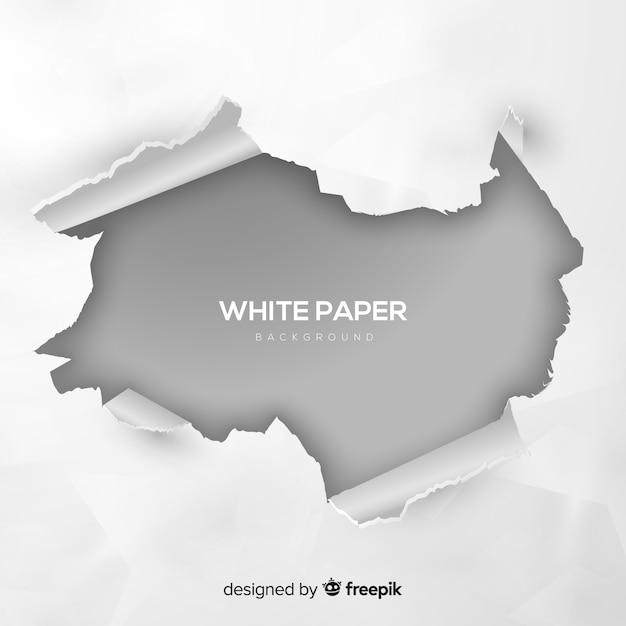 Fundo de papel branco Vetor grátis