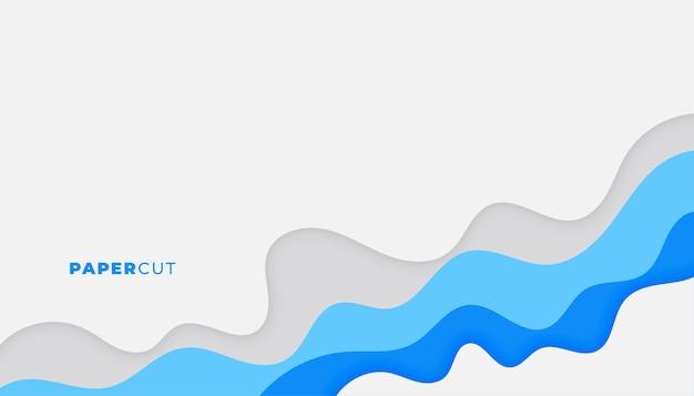 Fundo de papel cortado em azul business design Vetor grátis