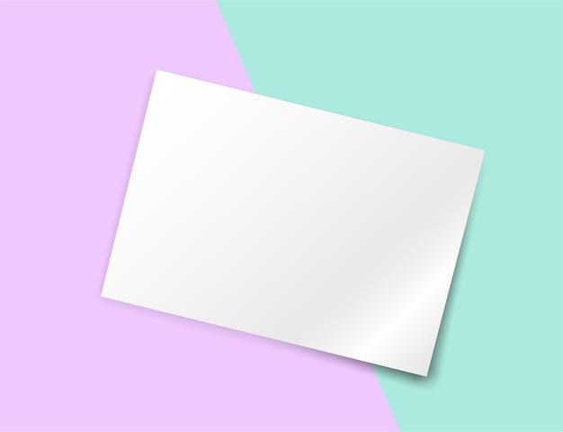 Fundo de papel de pastéis coloridos. Vetor Premium