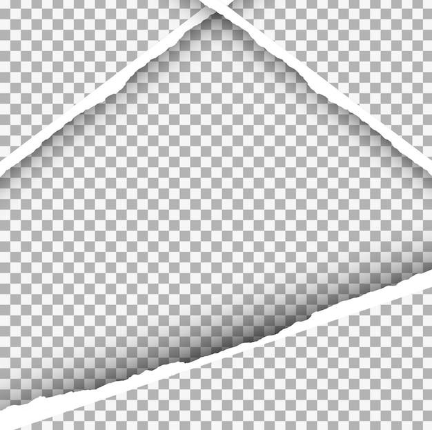 Fundo de papel rasgado Vetor grátis