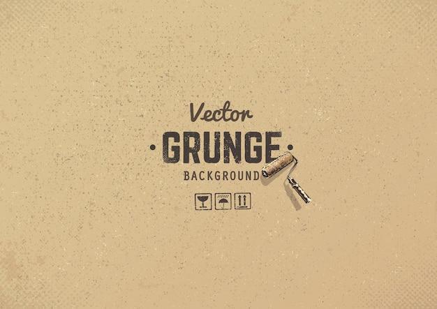 Fundo de papelão grunge Vetor grátis